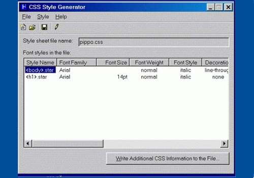 Css style generator