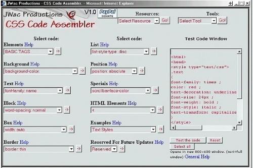 CSS Code Assembler