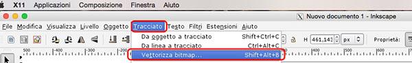 Vettorializza bitmap