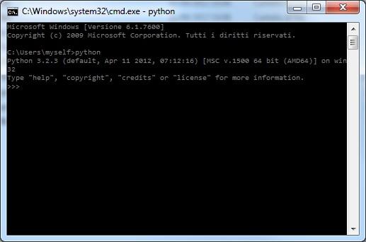 Avvio di Python