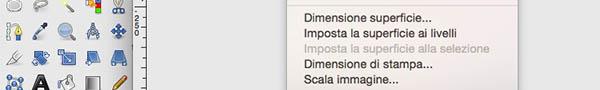 Menu Scala Immagine