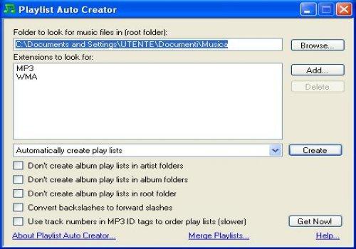 Playlist Auto Creator