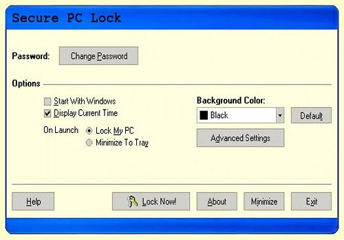 Secure PC Lock