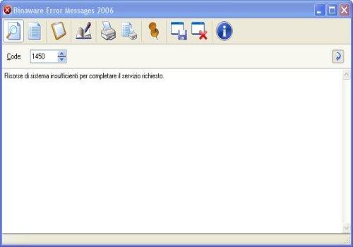 Binaware Error Messages 2006
