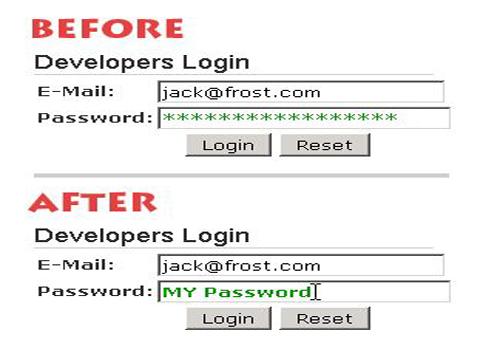 Unhide Passwords