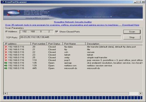 FreePortScanner