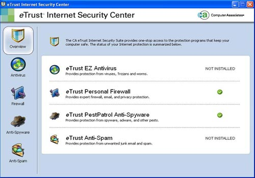 eTrust Internet Security Suite