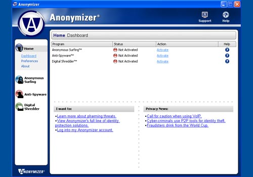 Anonymizer Anonymous Surfing