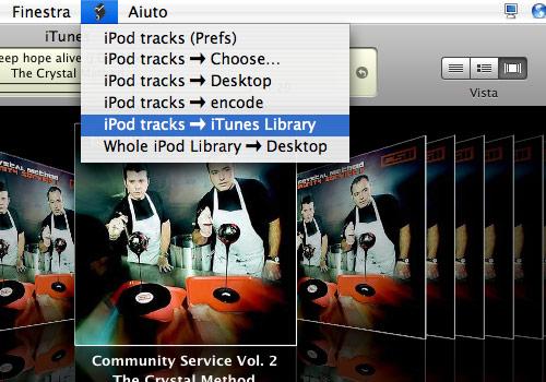 iPod tracks -> Desktop