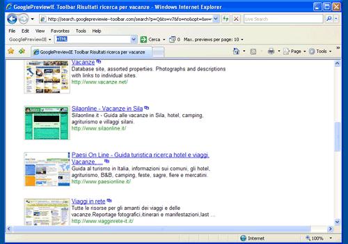 GooglePreviewIE Toolbar