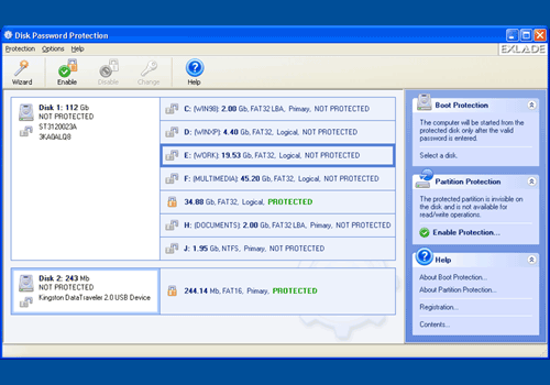 Disk Password Protection