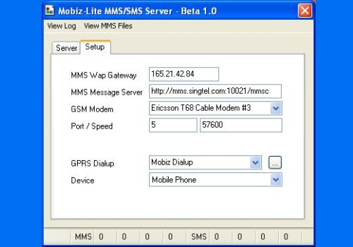 Mobizware-Lite MMS Server, SMS Server