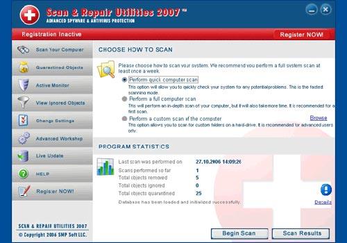 Scan and Repair Utilities 2007