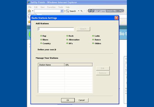 Streaming Internet Radio Toolbar