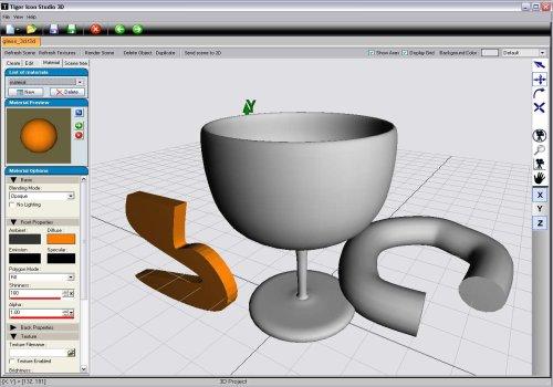 Tiger Icon Studio 3D