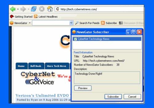 NewsGator Toolbar