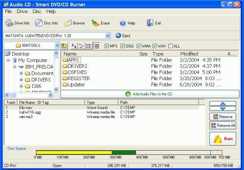 Smart DVD/CD Burner