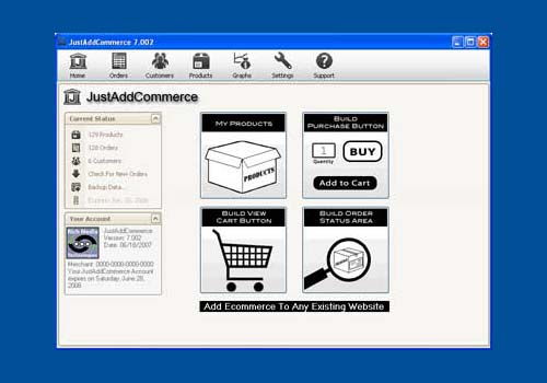 JustAddCommerce Flash Shopping Cart