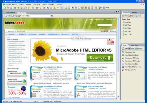 MicroAdobe Html Editor
