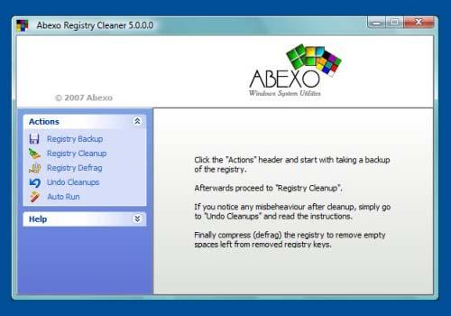 Abexo Registry Cleaner