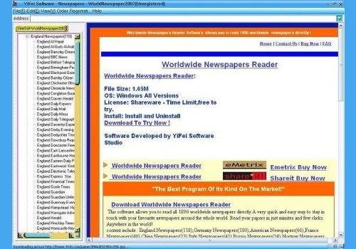 Worldwide Newspapers Reader