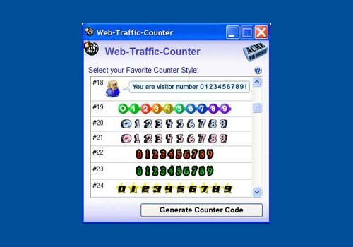 Web Traffic Counter