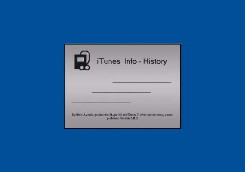 iTunes Info – History