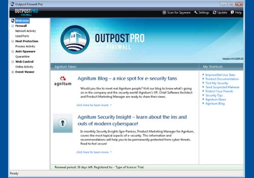 Outpost Firewall Pro 2008