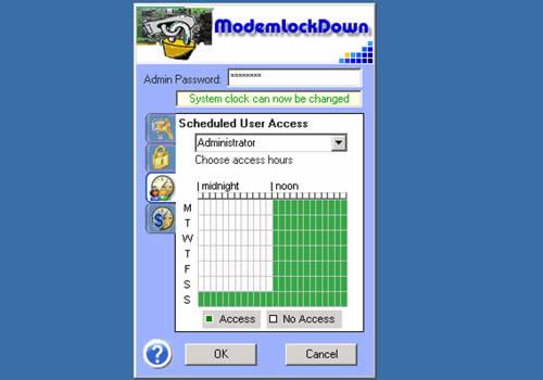 Modem Lock Down