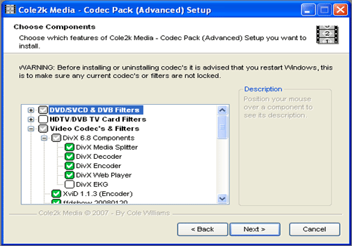 Codec Pack Advanced