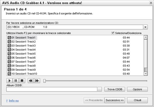 AVS Audio CD Grabber