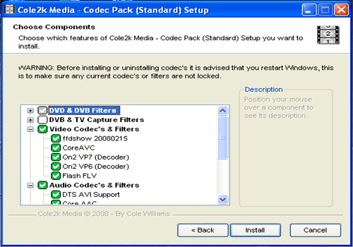 Codec Pack Standard