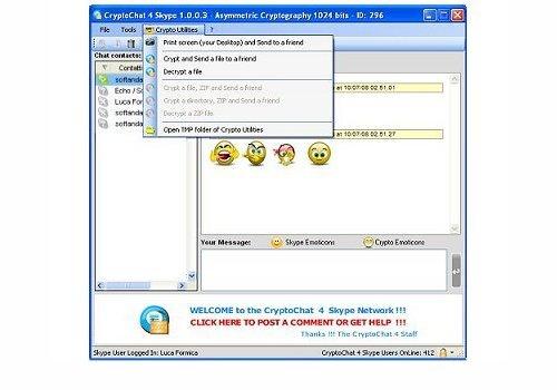 CryptoChat 4 Skype