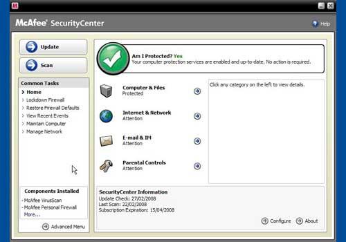 McAfee VirusScan with Firewall