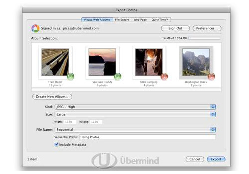 iPhoto to Picasa Web Albums