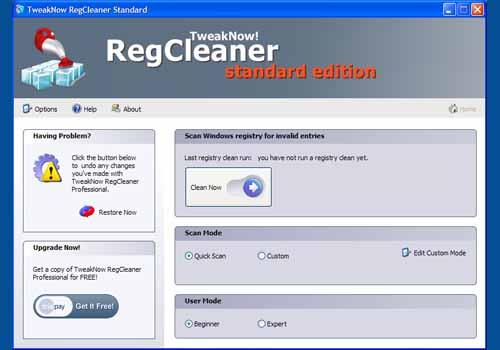 TweakNow RegCleaner Standard