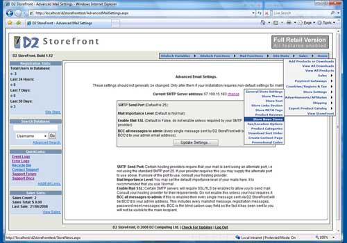 D2 StoreFront ASP.NET eCommerce Store