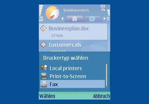 Cortado Print & Fax for Nokia