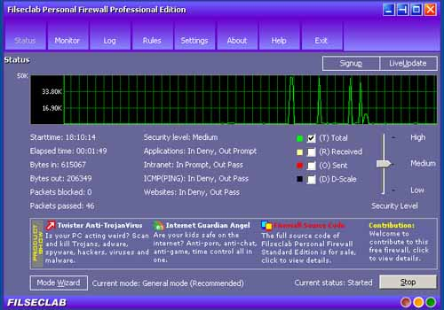 Filseclab Personal Firewall Professional Edition