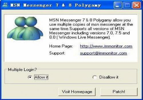 MSN Messenger 7 and 8 Polygamy
