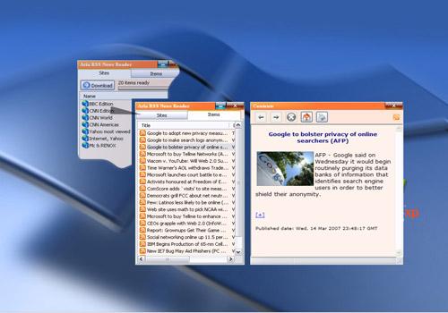 Aria RSS News Reader