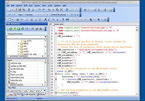 DSV PHP Editor