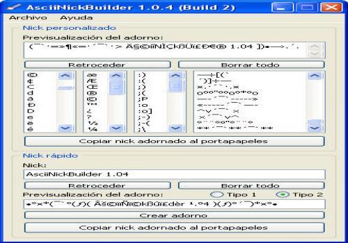 AsciiNickBuilder