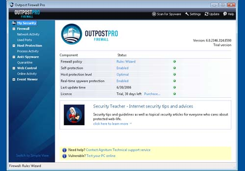 Outpost Firewall Pro 2009