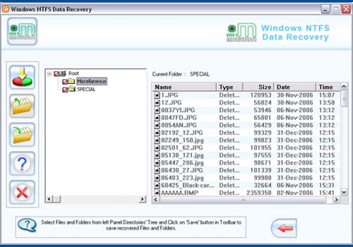 NTFS partition data recovery software