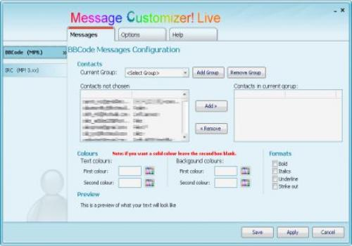 Message Customizer! Live