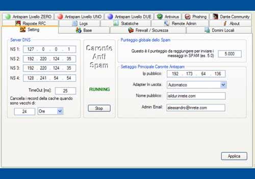 Caronte Antispam Server