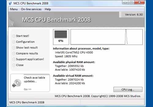 MCS CPU Benchmark 2008