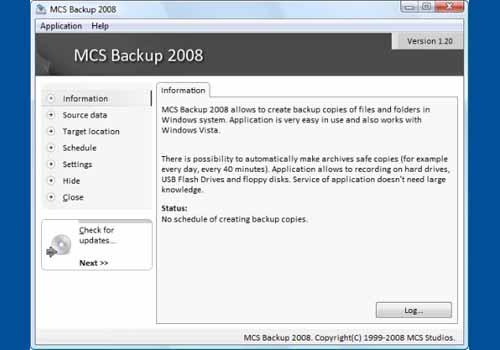 MCS Backup 2008
