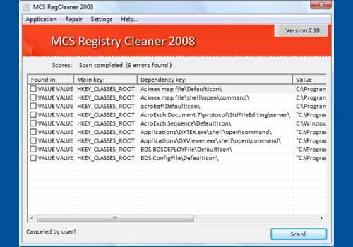 MCS Registry Cleaner 2008